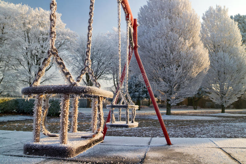 Frozen Swings Royalty Free Stock Photos