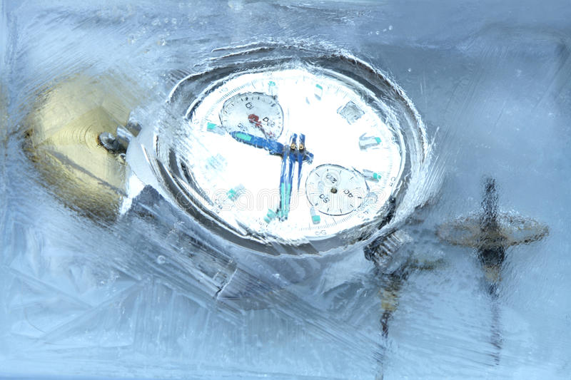 Download Frozen Time stock image. Image of wristwatch, dial, clock - 13848637