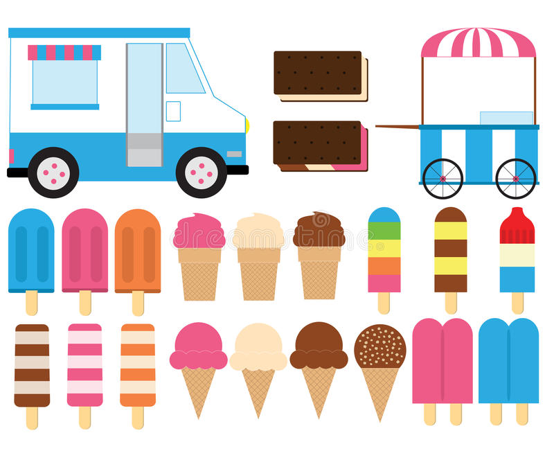 frozen treats stock vector illustration of orange