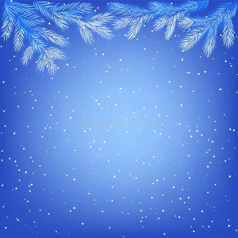 Frozen tree branches stock illustration