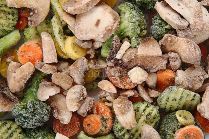 Frozen vegetable background stock photos