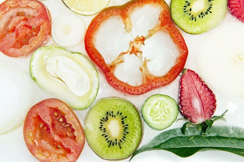 Frozen veggies. For use as background stock photos