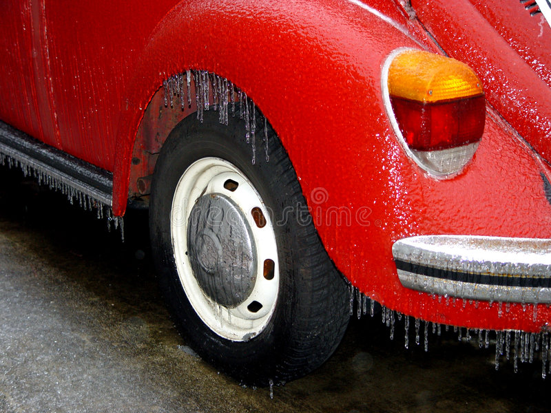 Frozen volkswagen royalty free stock image