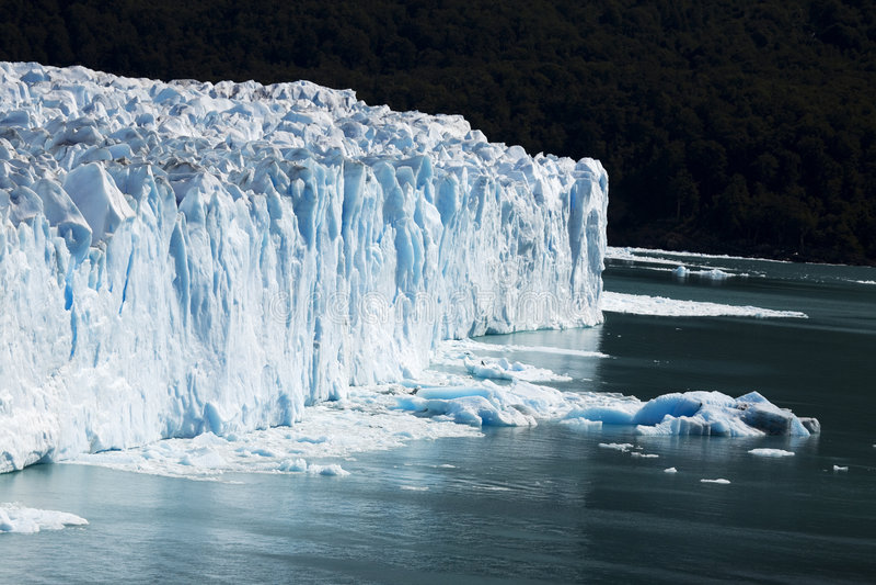 Frozen water. In perito Moreno Patagonia royalty free stock images