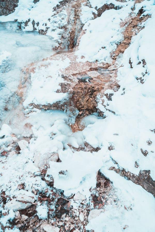 Frozen water fall in the bavarian alps. Frozen water fall bavarian alps stock image