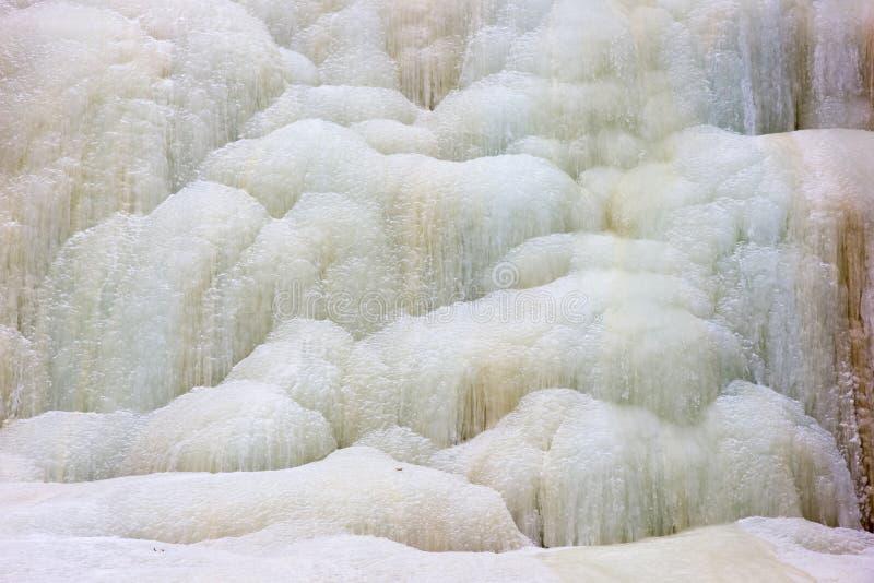 Frozen waterfall stock photos