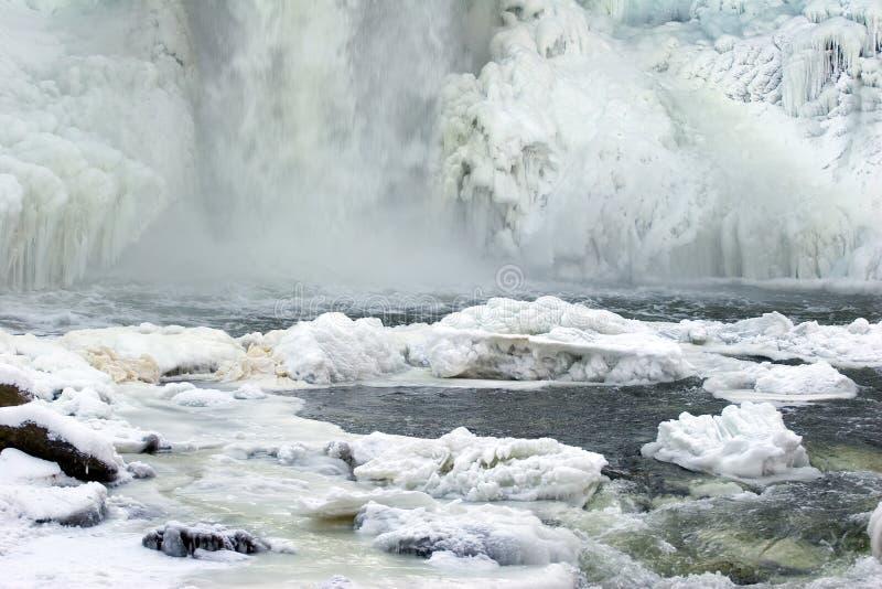 Frozen waterfall stock photography