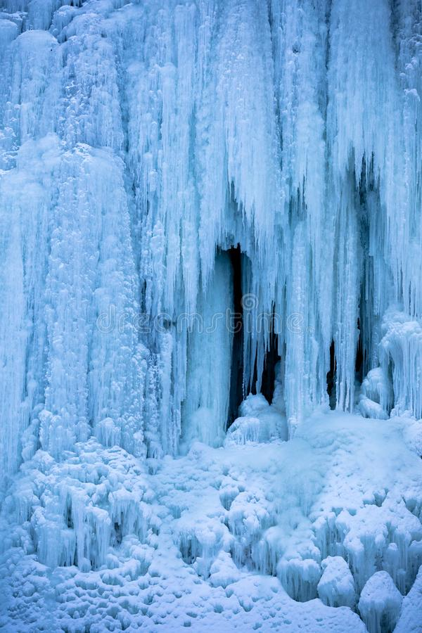 Frozen Waterfall Detail royalty free stock photo
