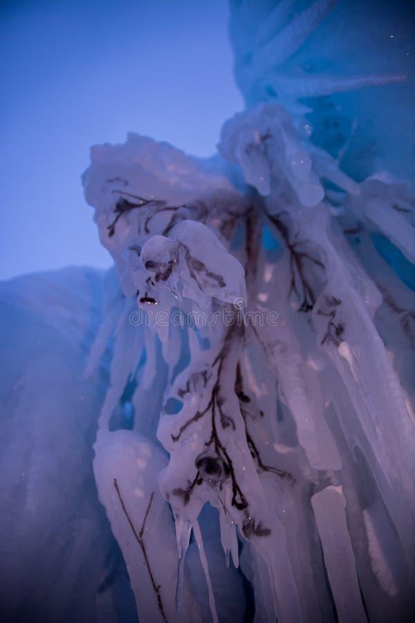Frozen waterfall royalty free stock image