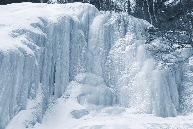 Frozen waterfall stock image