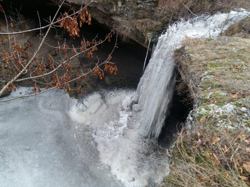 A Frozen Waterfall stock image