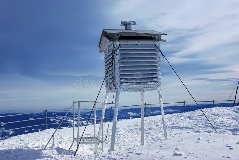 Frozen weather station stock photos