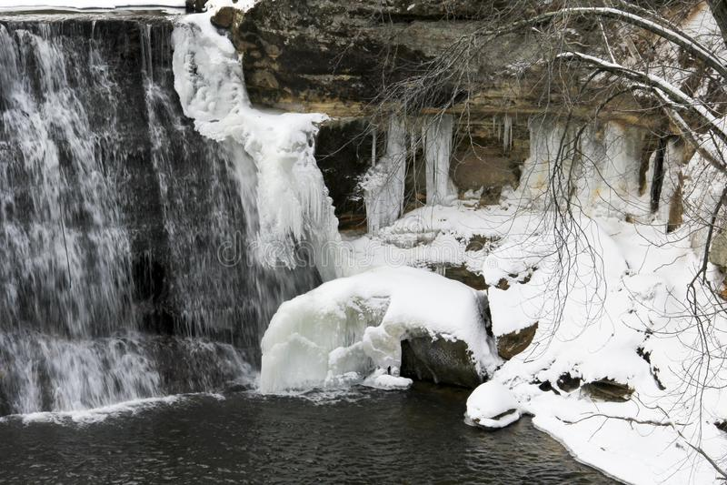 Frozen Winter Waterfall stock photo