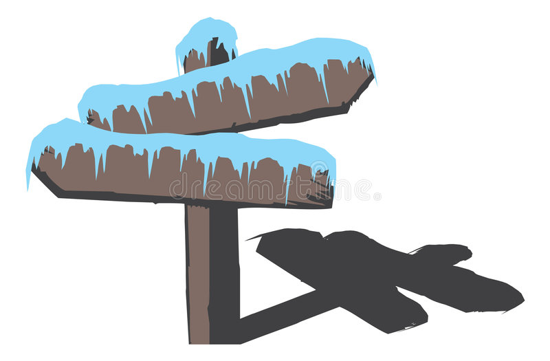 Download Frozen wood sign stock vector. Image of decision, custom - 3523254