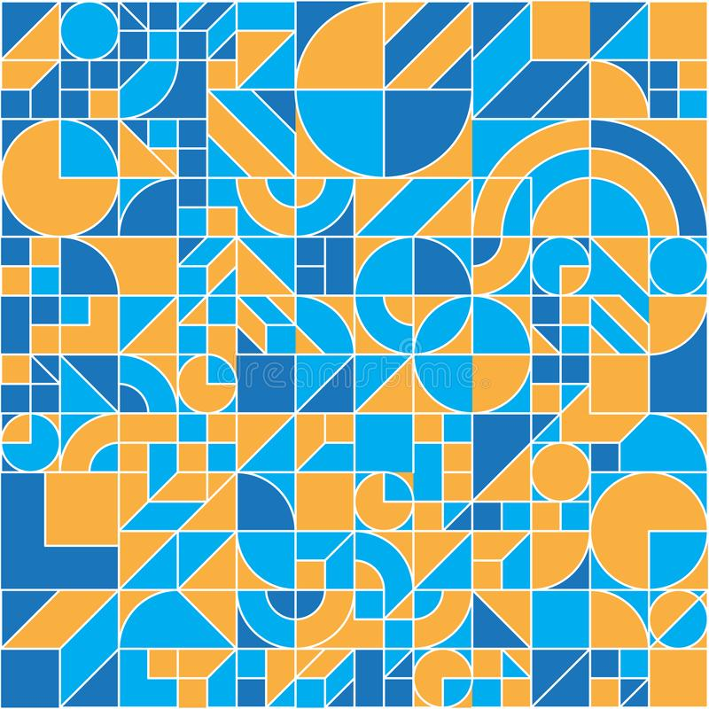 Seamless geometric colorful  flat pattern vector illustration