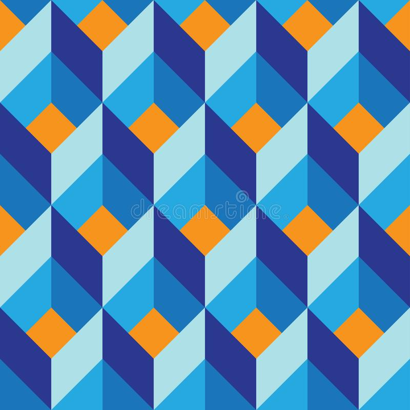 Seamless geometric colorful vector flat pattern stock photos