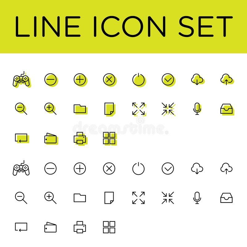Big Icon Set Vector Flat royalty free stock image