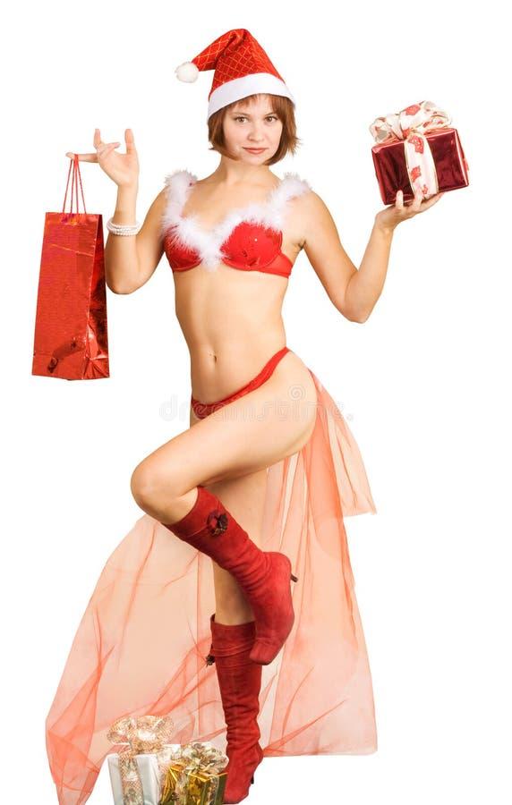 Fru Jultomte arkivbild