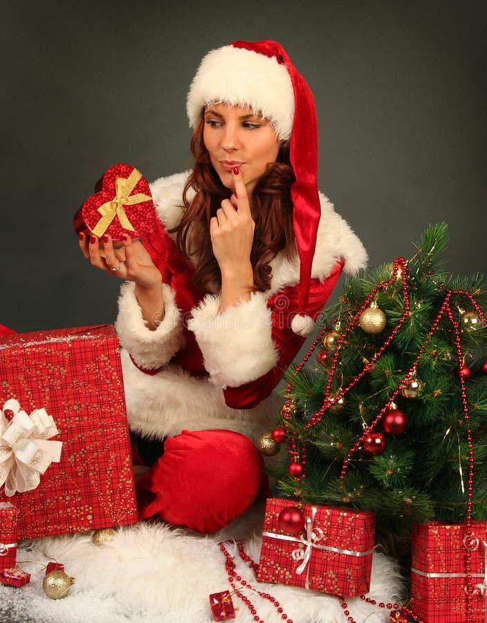 Download Fru Santa fotografering för bildbyråer. Bild av leende - 27288819