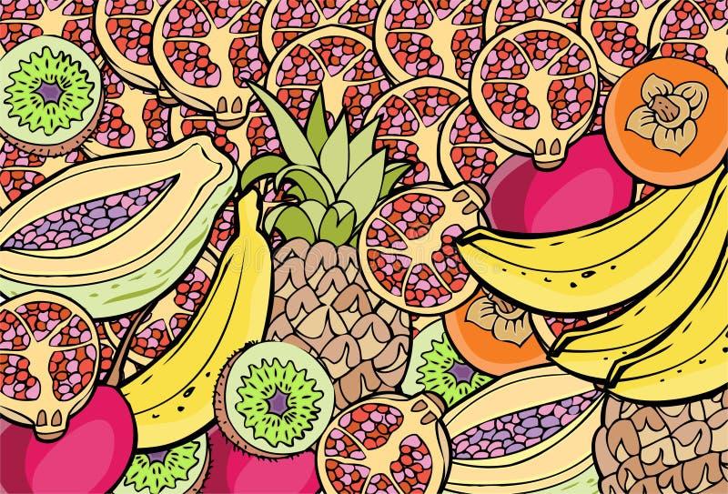 Frucht-Ansammlung - Collage lizenzfreie abbildung