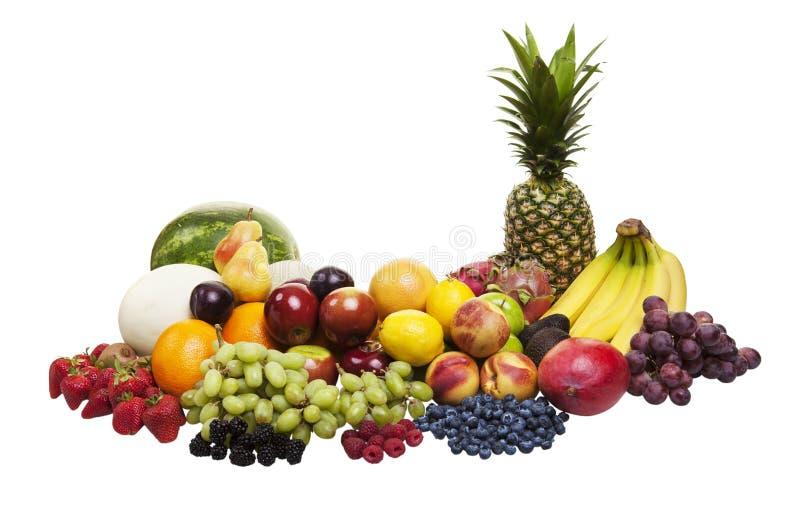 Frucht auf Weiß lizenzfreie stockfotografie