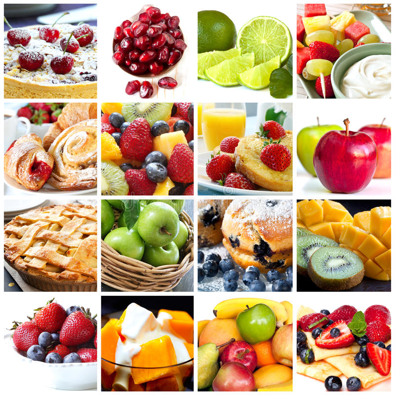 Frucht-Collage stockfotografie