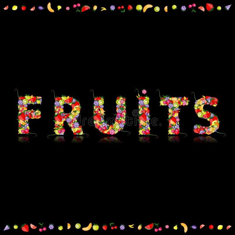 Frucht für Ihre Auslegung. Sehen Sie andere in meiner Galerie lizenzfreie abbildung