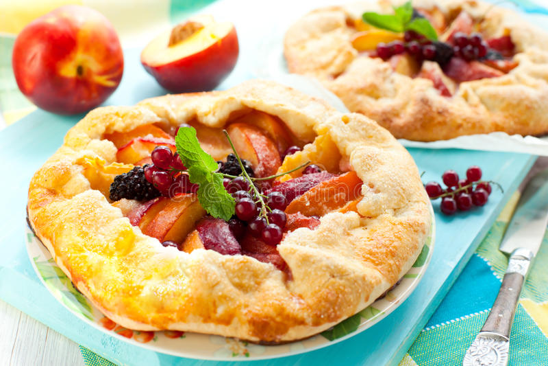 Frucht galette lizenzfreie stockfotografie
