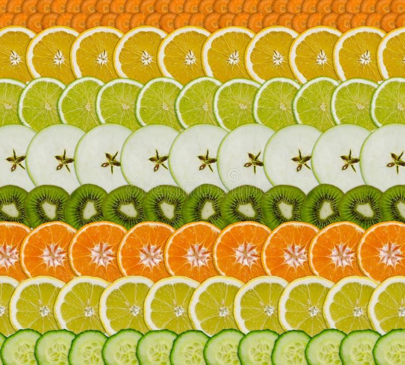 Frucht/Gemüsescheiben lizenzfreie stockfotos