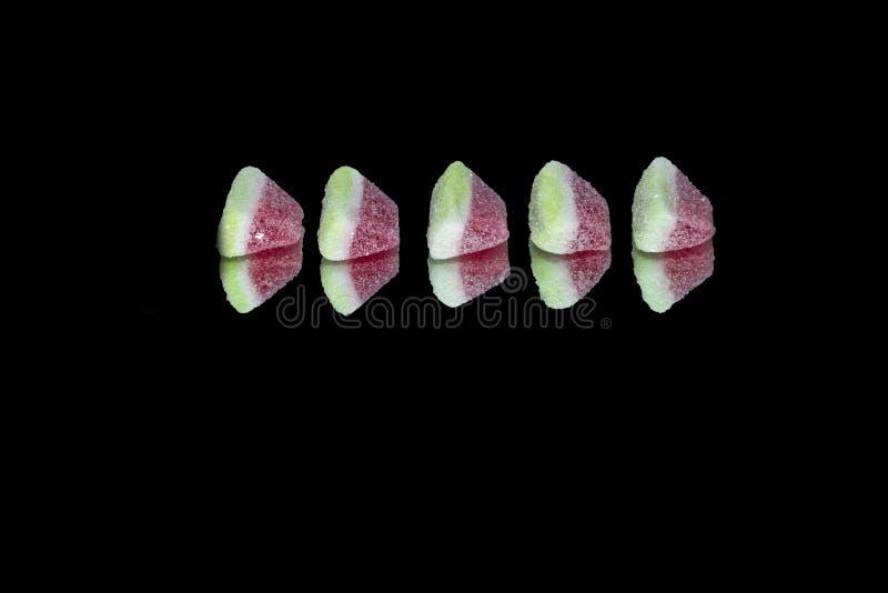 Frucht gummiartig von der Wassermelone lokalisiert stockfoto