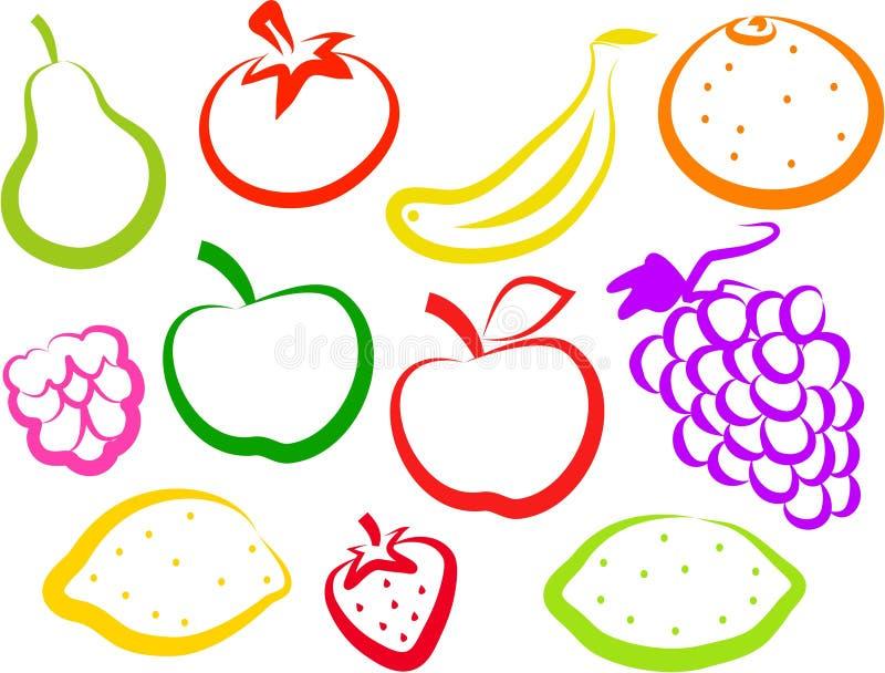 Frucht-Ikonen stock abbildung