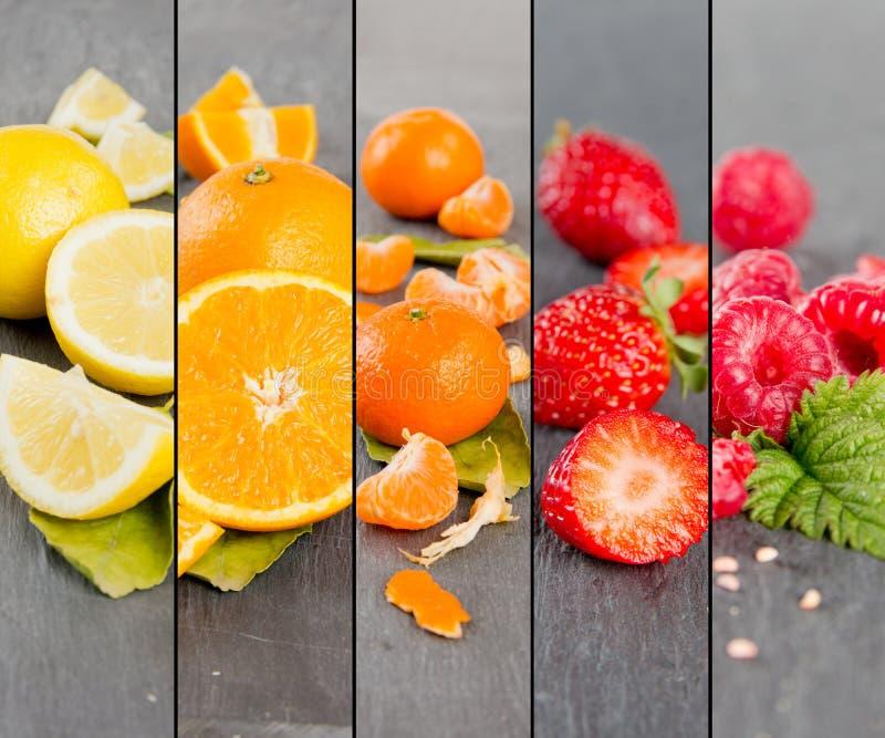 Frucht-Mischungs-Streifen lizenzfreie stockfotos