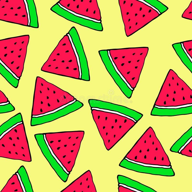 Frucht, nahtlos, Karikatur, Vektormuster vektor abbildung