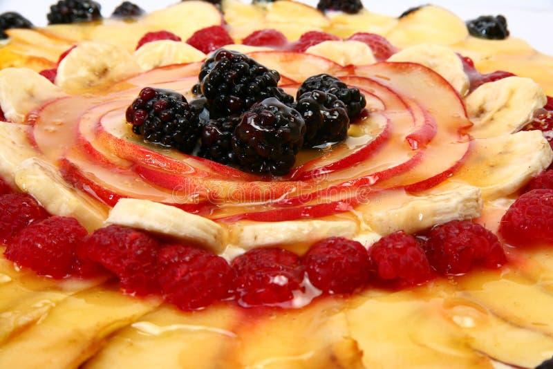 Frucht-Pizza stockfotografie