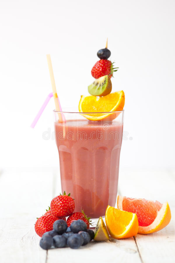 Frucht Smoothie stockfotografie