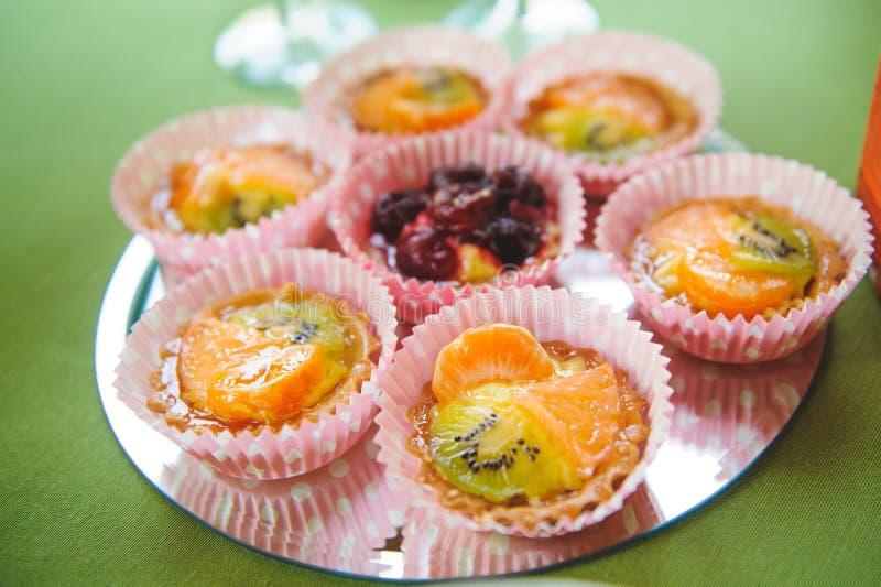 Frucht Tartalets stockfoto