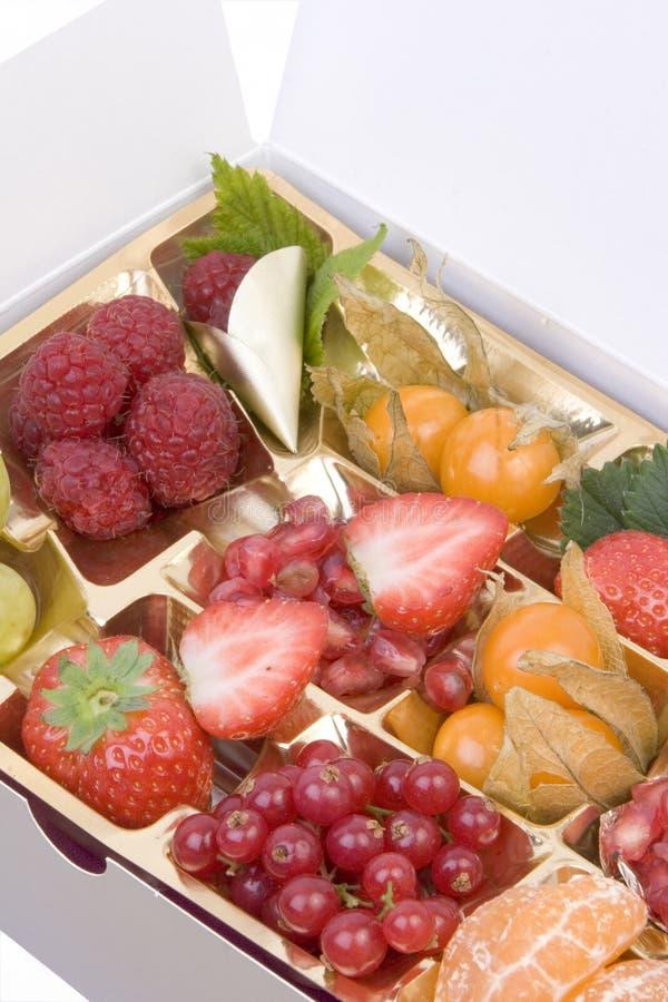 Frucht-Tellersegment stockbild