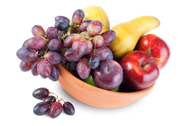 Fruchtanordnung in der Schüssel stockbild