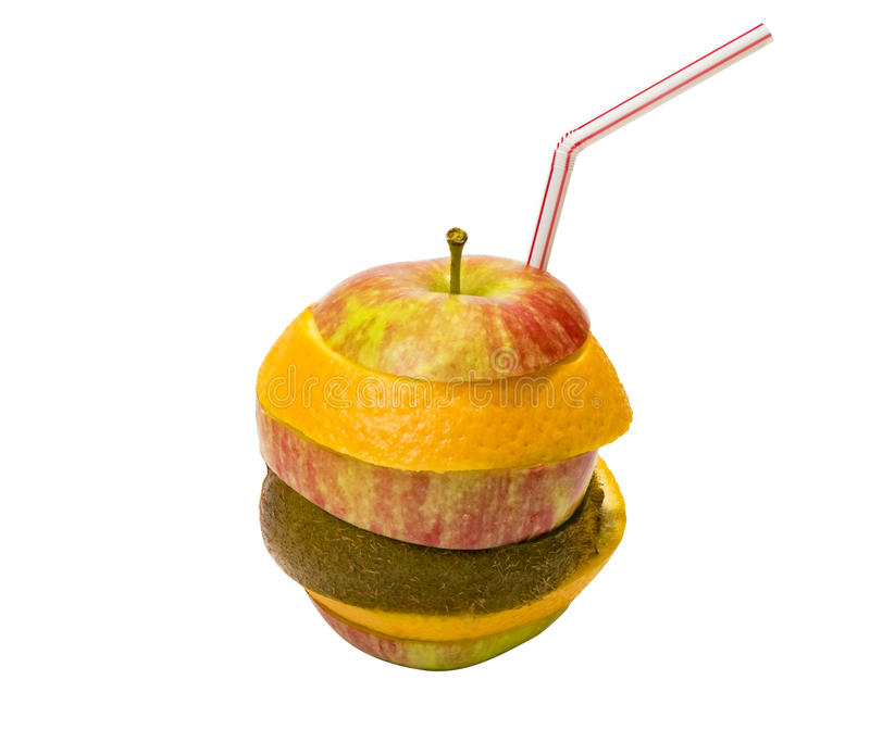 Fruchtcocktail des Apfels stockbilder