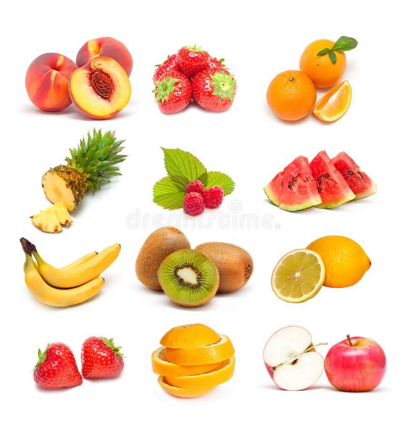 Fruchtcollage stockbilder