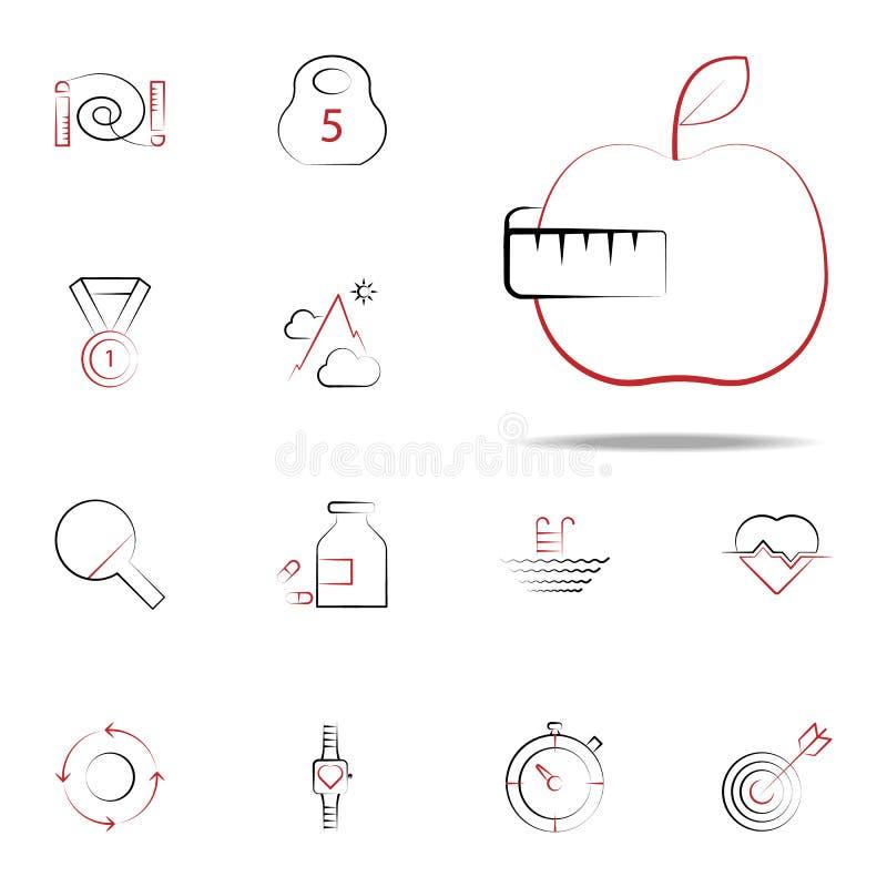 Fruchtdiätikone Eignungsikonen-Universalsatz für Netz und Mobile stock abbildung