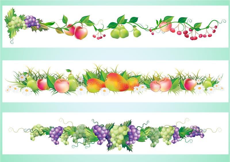 Fruchtdiätrand vektor abbildung