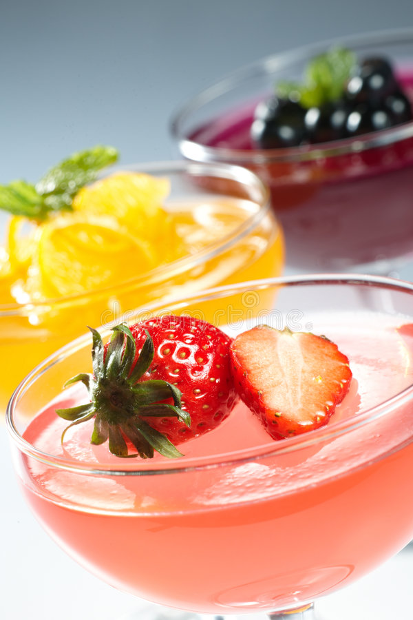 Fruchtgelee stockfoto