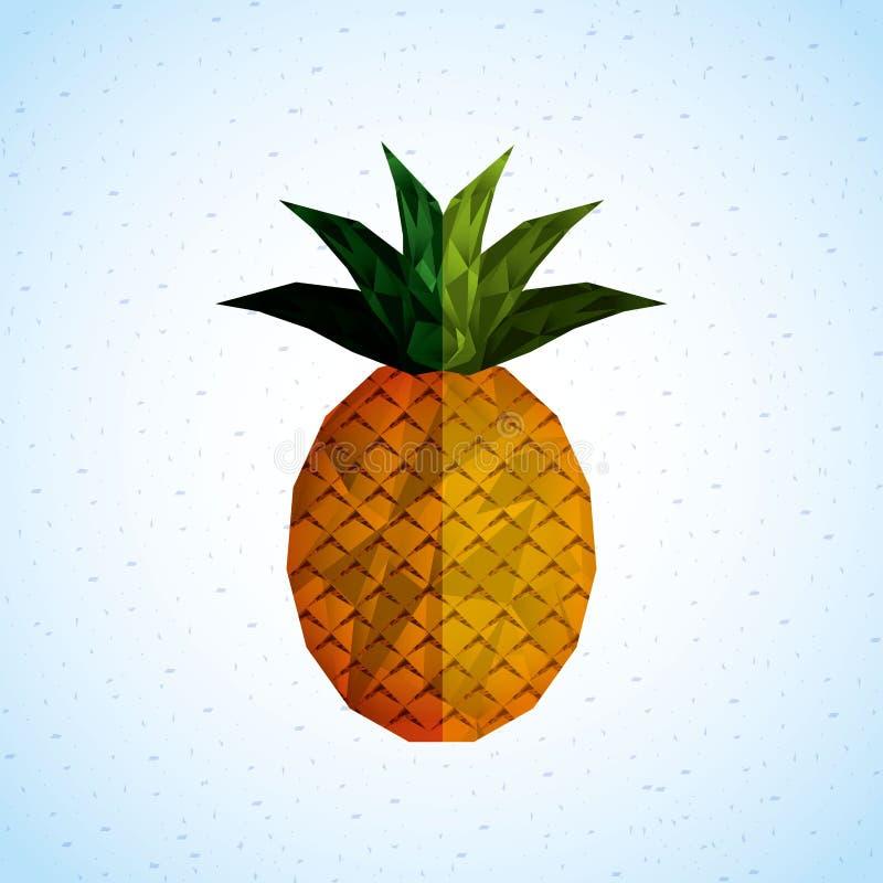 Fruchtikonendesign lizenzfreie abbildung