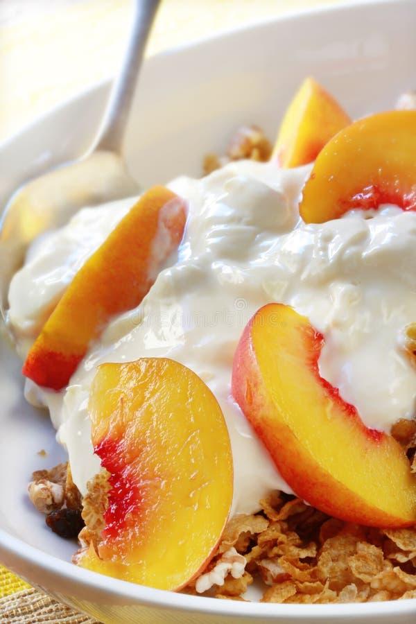 Fruchtjoghurt und Muesli lizenzfreies stockfoto