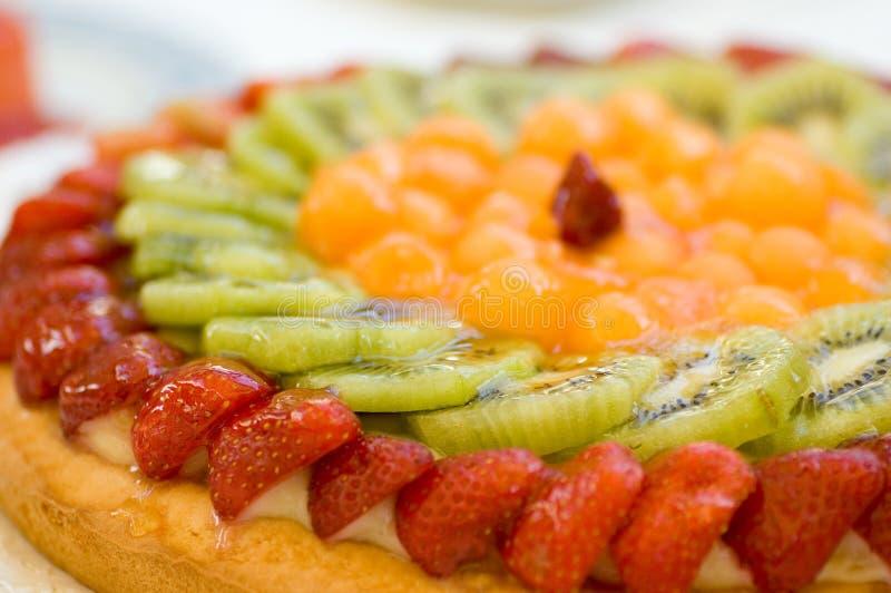 Fruchtkuchennachtisch lizenzfreies stockfoto
