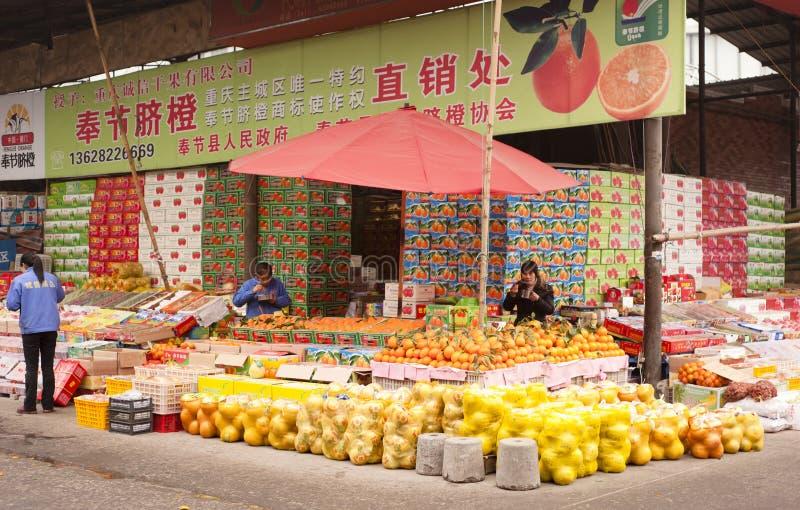 Fruchtmarkt, Chongqing lizenzfreies stockfoto