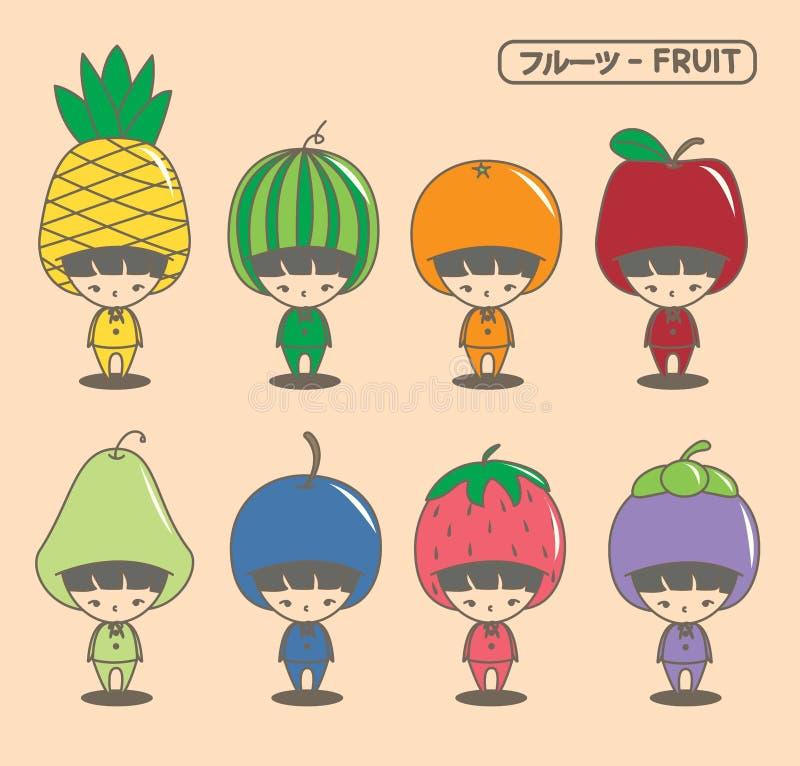 Fruchtmaskottchen stockfotos