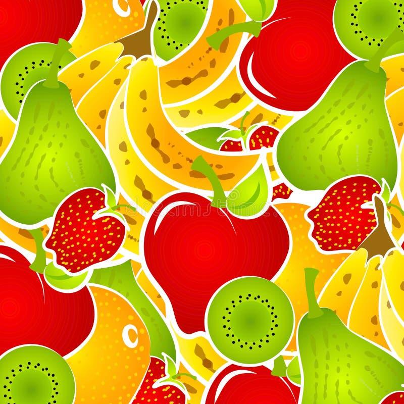 Fruchtsalat-Nahrungsmittelhintergrund lizenzfreie abbildung
