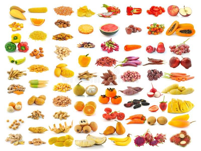 Fruchtsammlung auf Weiß lizenzfreie stockfotografie